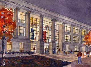 North Entrance rendering